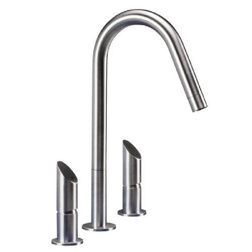 MGS T45 3 Hole Stainless Steel Kitchen Tap